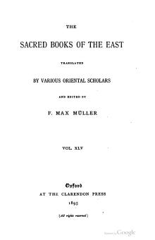 Sacred Books of the East - Volume 45.djvu