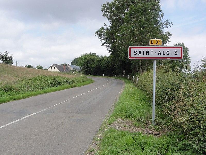 Saint-Algis (Aisne) city limit sign