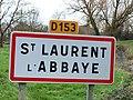 Saint-Laurent-l'Abbaye-FR-58-panneau d'agglomération-02.jpg