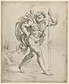Saint Christopher walking with the infant Christ on his right shoulder MET DP837847.jpg