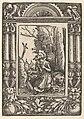 Saint Jerome in Penitence, in a Renaissance Frame MET DP833033.jpg
