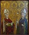 Saint Kilian and Saint Nicholas, Franconia, c. 1465, paint on wood - Mainfränkisches Museum - Würzburg, Germany - DSC05178.jpg