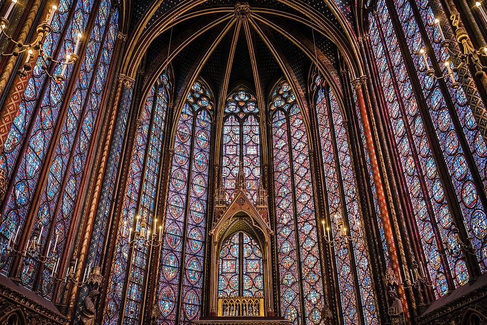 Sainte Chapelle Interior Stained Glass