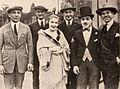 Sam Warner, Joe Marks, Florence Gilbert, Art Klein, Monty Banks, & Jack Warner - 1920 EH.jpg