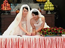 wedding  taiwanese couple after wedding ceremony