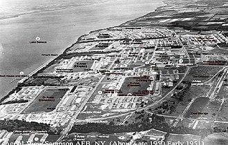 Sampson Air Force Base - Image: Sampson Air Force Base 1950 photo