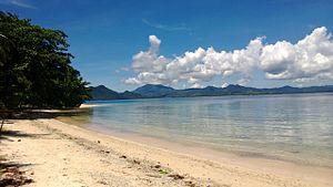 Hinunangan, Southern Leyte - White beach at San Pablo Island, Hinunangan