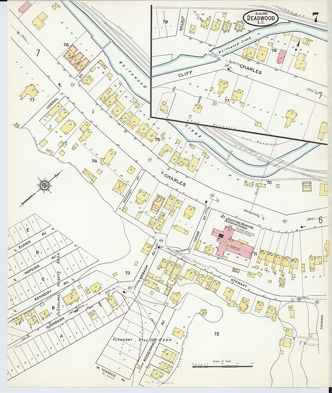 File Sanborn Fire Insurance Map from Deadwood Lawrence County