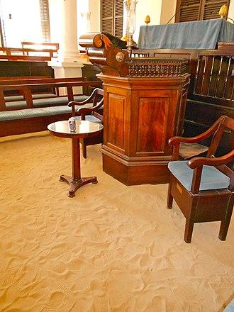 St. Thomas Synagogue - Sand floor