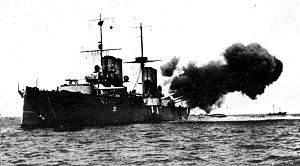 Italian cruiser San Giorgio - Image: Sangiorgio Firing