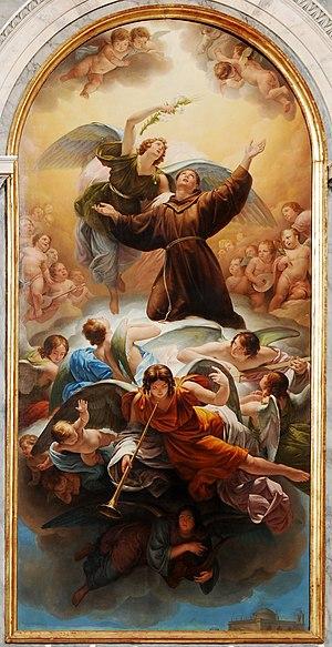 Odorico Politi - Sant'Antonio in Gloria fresco at Sant'Antonio Taumaturgo in Trieste