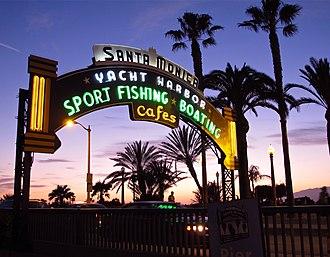 Santa Monica Pier - Landmark entrance to the Santa Monica Pier