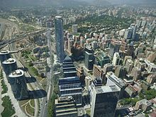 Santiago de Chile from Gran torre Santiago, Titanium Tower.JPG