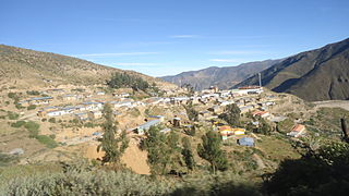 Santo Domingo de Capillas District District in Huancavelica, Peru