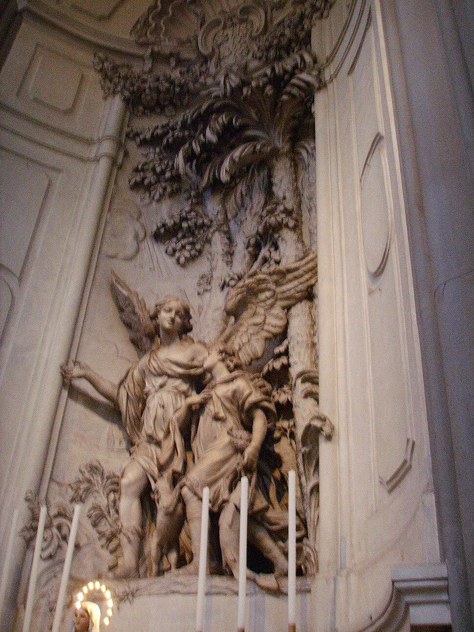 Santo spirito, cappella della palla-portinari, Giovanni baratta, arcangelo raffaele e tobiolo (1698)