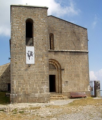 Mare de Déu del Mont - View of the shrine on top of the summit