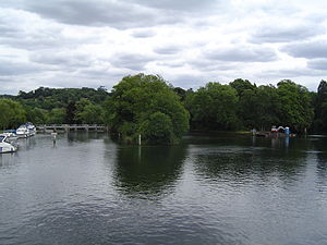 Hedsor Water - Hedsor Water is the channel furthest to the left where there is a weir
