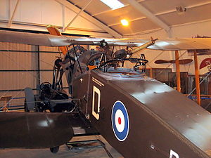 Scarff ring - Scarff ring on a Bristol F.2B at the Shuttleworth Collection