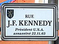 Schëld Rue J.F. Kennedy, Déifferdeng.jpg