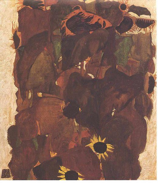 File:Schiele - Sonnenblumen - 1911.jpg