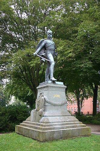 Battle of Stralsund (1809) - Image: Schill Statue