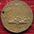 Scuola romana, medaglia di paolo III e securitas temporum, 1538, verso con guerrieri in fuga sotto pietre.JPG