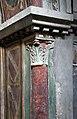 Scuola toscana, crocifissione e santi con stemmi monaldeschi, 1293, 05 colonnina dipinta.jpg
