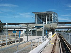 Sea Island Centre station - Image: Sea Isl Ctr stn approaching from west 3600