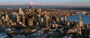"""From top: the city from <a href=""""http://search.lycos.com/web/?_z=0&amp;q=%22Queen%20Anne%20Hill%22"""">Queen Anne Hill</a>, <a href=""""http://search.lycos.com/web/?_z=0&amp;q=%22Lake%20Union%22"""">Lake Union</a>, <a href=""""http://search.lycos.com/web/?_z=0&amp;q=%22Pike%20Place%20Market%22"""">Pike Place Market</a>, and the downtown skyline from <a href=""""http://search.lycos.com/web/?_z=0&amp;q=%22Washington%20State%20Route%20509%22"""">State Route 509</a>"""