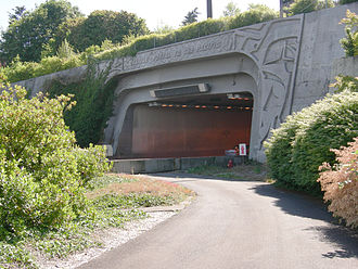 Mount Baker Tunnel - Eastern portal of 1989 tunnel