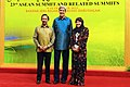 Secretary Kerry Poses for a Photo With Sultan Bolkiah of Brunei and His Wife, Hajah Saleha (10174599675).jpg