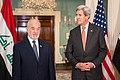 Secretary Kerry and Iraqi Foreign Minister al-Jaafari Address Reporters in Washington (27838716413).jpg