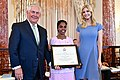 Secretary Tillerson and Advisor to the President Ivanka Trump Pose for a Photo With 2017 TIP Hero Vanaja Jasphine of Cameroon (34729875464).jpg