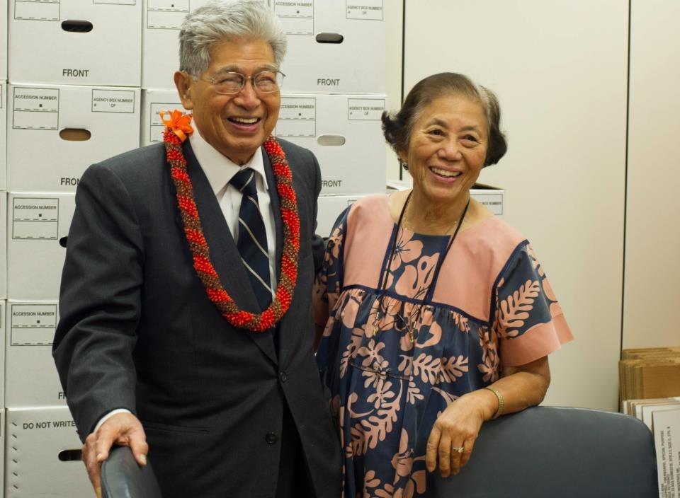 Senator Daniel Akaka and Millie Akaka