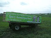 Senterpartiet campaining Norwegian Storting elections 2005 Picture from Nærbø at Jæren.JPG