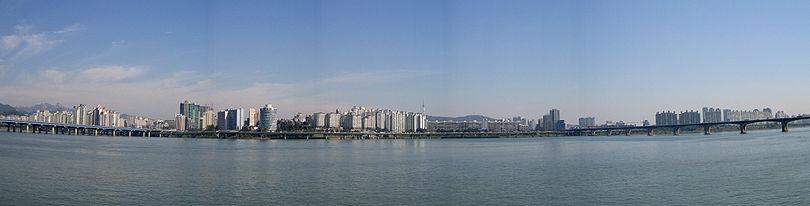 Panorama urbano sul de Seul depois de Yeouido.