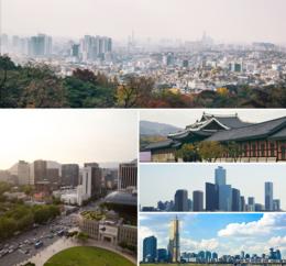 Photo-montage de Séoul