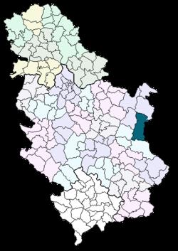 karta srbije zajecar Zaječar (općina) – Wikipedija karta srbije zajecar