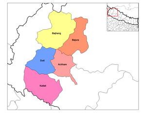 Seti Zone - Image: Seti districts