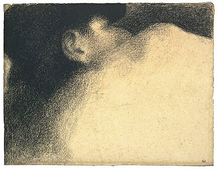 The Sleeper, drawing by Georges Seurat, one of 49 items by him. Joconde is very rich in drawings. Seurat Le dormeur.jpg
