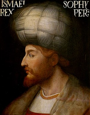 Safavid conversion of Iran to Shia Islam - Shah Ismail I, the Sheikh of the Safaviyya Tariqa, the founder of Safavid Dynasty of Iran, and the Commander-in-chief of the Kizilbash Armies of the Safavid Empire.