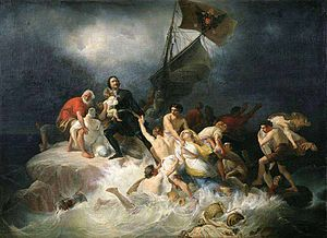 Pyotr Shamshin - Peter the Great Rescues the Drowning at Lakhta
