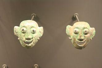 Shang dynasty - Chinese Shang dynasty bronze face masks, 16th–14th century BC