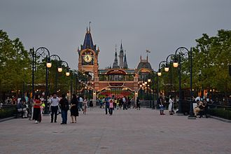 Shanghai Disneyland Park - The entrance to the park, which leads onto Mickey Avenue.