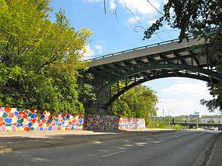Shawnee Street Overpass bridge in United States of America