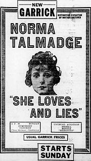 <i>She Loves and Lies</i> 1920 film by Chester Withey