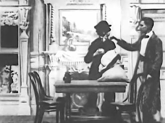 Biograph Company - A still from the 1903 Biograph film Sherlock Holmes Baffled.