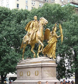 Grand Army Plaza (Manhattan) - William Tecumseh Sherman, northern side of plaza