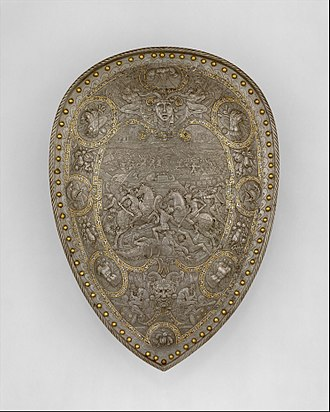 Parade Armour of Henry II of France - A shield of Henry II, Metropolitan Museum of Art