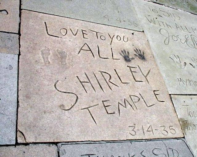 Shirley Temple handprint